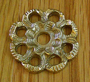 Cast Brass Victorian Drawer Pull Back Plate B-0420