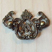 DISCONTINUED, WILL NOT SHIP. (A) SET OF 3 PULLS Small Chippendale Drawer Pull TR-TC403D