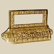 Brass File Label Card Holder Library Pull B-1374