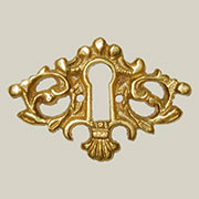 Keyhole Cover Brass B-0226