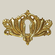 Cast Brass Victorian Keyhole Cover B-0258