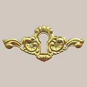 Victorian Brass Keyhole Cover B-0283