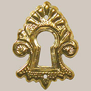 Victorian Stamped Brass Keyhole Cover B-0293