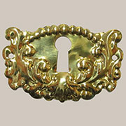 Victorian Stamped Brass Keyhole Cover B-0287 BM-1207PB