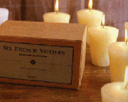 Box of Six Ivory Homart French Votive Candles HA-0043-0