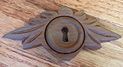 Victorian Walnut Leaf Design Keyhole Cover W2-0133