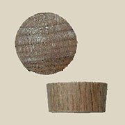 Tapered Flat Top Walnut Screw Hole Plugs 1/2 Inch 50 Count  W2-6514
