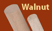 1/2 Inch Diameter by 3 Foot Long Walnut Dowel Rod W2-6608