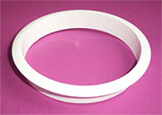 Nylon Trash Trim Ring Grommet White Plastic HC-6144-010