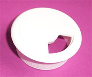 2-3/8 Inch Hole Fit White Wire Grommet HC-6237-010