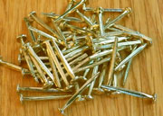Brass Plated Steel Trunk Nail Tacks 4 Ounce Lots 1 Inch D-3660