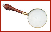 Brass & Wood Magnifying Glass UDA-112