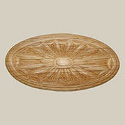 3 Inch Long Oval Oak Wood Applique Ornament