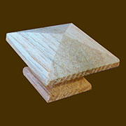 "Pyramid Oak Knob 1-3/4"" Square  O-16 BM-4203"