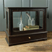 DISCONTINUED, WILL NOT SHIP. Curio Display Case Box Wood and Glass  HA-8038-0