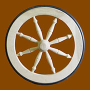 Tea Cart Wheel in Ash AW-189TCWASH Amware